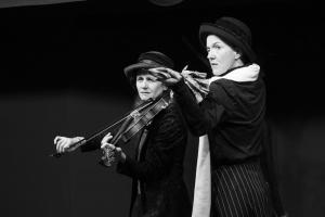 100-jähriges Jubiläum Frauenwahlrecht, Birgit Scheibe, Karin Christoph und L'Ohreley