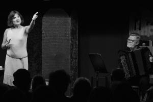 2018-10-20 Tucholsky, Dorit Meyer-Gastell und JurijKandelja
